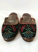19th Century Turkish Ottoman Empire Embroidered Slippers Shoes Antique Childrens