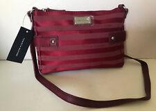 NEW! TOMMY HILFIGER EAST WEST RED MESSENGER CROSSBODY SLING BAG PURSE $69 SALE