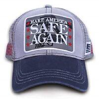 Trucker Hat Cap Foam Mesh  Patriotic USA American America In God We Trust Eagle