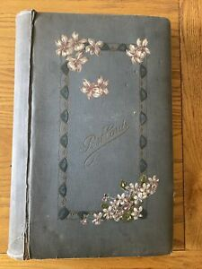 Vintage Postcard Album With Approx 100 Postcards And RPs