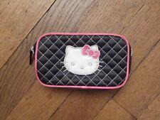 Trousse Rectangulaire Noir Hello Kitty- Neuf- Sanrio
