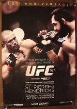 Official UFC 167 St.Pierre vs Hendricks Poster 27x39 (Near Mint)