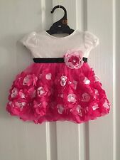 NEW Baby Kids Girls Pink Rosette Tutu Party Dress Size12-24 months size 2
