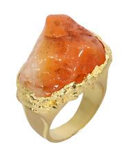 Karneol Ring 925 Sterlingsilber 14ct vergoldet Handarbeit Unikat Größe 59 R1270
