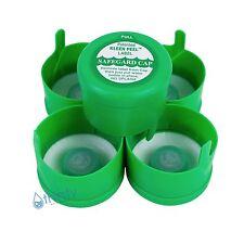 (Lot of 5) 3 & 5 Gallon Water Bottle Snap On Caps Anti Splash 55mm Peel Off Tops