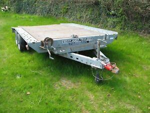 Brian James TT20 twin axle flat bed car transporter trailer