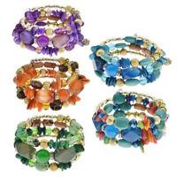 Bohemian Multilayer Natural Stone Beads Bracelet Charm Women Hoho Bangle Jewelry