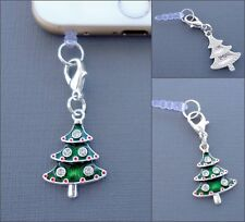 Christmas tree cell phone Charm AntiDust proof Plug ear cap cover jack C46