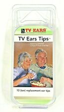 TV Ears Replacement Ear Tips 10 (Ten) Comply Foam Snap Tips - 5-Pairs - NOS