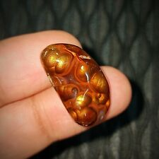 Fantastic Fire Agate Brown Color Cabochon Gemstone