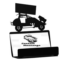 Sprint Car Business Card Holder Alcohol Outlaw Modified Dirt Track Speedway Chev