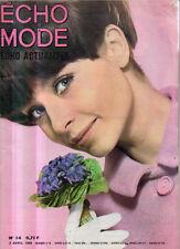 l'echo de la mode n°14 madeleine renaud 1966