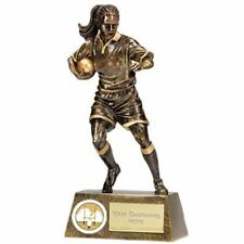 Rugby Trophies - Female Rugby Player Trophy Award - Free Engraving