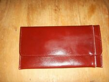 Ladies Burgundy Wallet With Zipped Compartment Unused