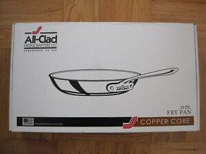 New In Box All Clad Copper Core Stainless Steel 10 Inch Fry Pan No lid