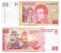 Argentina 20 Pesos 2013 Series E P-355b Banknotes UNC