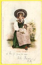 cpa Edition Burgy, St IMIER LITHO Série Costumes Suisses THURGAU THURGOVIE