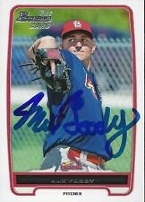 Max Foody St Louis Cardinals 2012 Bowman Signed Card
