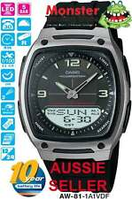 AUSSIE SELLER CASIO WATCH AW81 AW-81-1A1V AW-81 DUAL TIME 12-MONTH WARRANTY