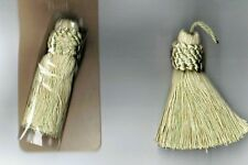 "3 Sheer Ribbon Tassels IVORY Color  3-1//4/"" New Sewing Craft Embellishment"
