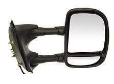 Fits 99 - 02 Ford F250 F350 F450 F550 Mirror Passenger New Power Telescopic