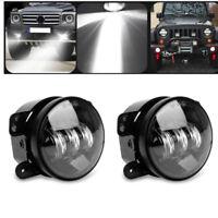 """4"""" 30W LED Fog Lights Driving Lamps DRL For Jeep Wrangler JK TJ LJ Dodge Journey"""