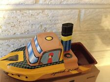 Pop Pop Speedboat Steamer Tin Toy  New Tin Toy Treasures Collection