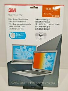 "3M Gold Privacy Filter for 14"" Widescreen Laptop (GF140W9B) (16:9)"