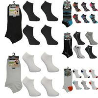 6 x Pairs Mens Trainer Ankle Liner Quarter Ankle Sports Socks Gym Adults UK 6-11