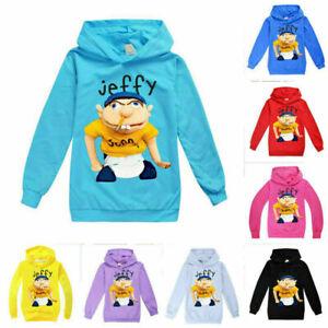 2021 UK Jeffy Puppet Hoodies Kids Youtuber Children Casual Hooded Jumpers Tops!