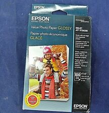 "EPSON VALUE PHOTO PAPER GLOSSY, 4"" X 6"", BOX OF 100, NEW"