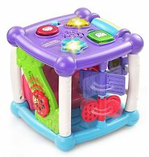 Baby Girls Toys 6 -12 Months Busy Learners Activity Cube Purple Developmental