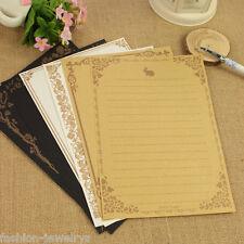 8 Sheets Vintage Design Writing Paper Letter Pad Envelopes School Stationery