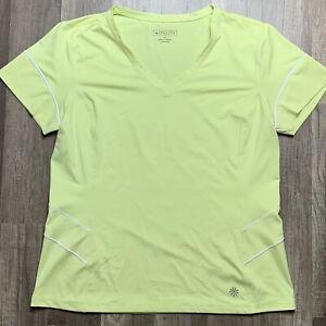 Athleta Womens Size Medium Yellow Short Sleeve Top