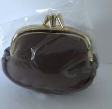 LADIES GIRLS LEATHER CLIP PURSE