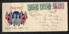 1947 SOUTHERN RHODESIA TO CAPE TOWN,KGVI, SILVER JUBILEE,REGISTERED COVER