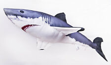 The Great White Shark 120cm! Giant Jaws. GABY SOFT TOY FISH PILLOW 47INCH long!