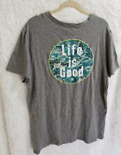 Life is Good T-shirt top Men's  camo pocket Large 4U