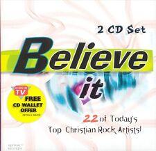 Believe It 2 CD NEW Jars of Clay Stryper Whiteheart Caedmon's Call Third Day Kry