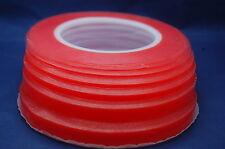 Nastro Biadesivo Rosso, Transparente, Ultra Forte per Cellulare, Bricolage