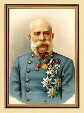 Emperador Franz Josef I. de Austria medalla K & K facsímil 105 en el marco de oro