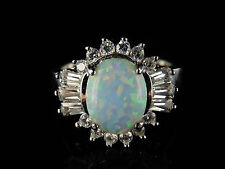 OPAL PASTE FLOWER RING 1.35CT