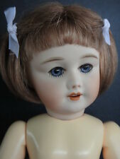 BLEUETTE Reproduction porcelain doll. SFBJ301 Mold- Blue eyes- G. BRAVOT FRANCE