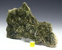 Rare Specimen of Large Epidote Crystals on Matrix - Natural Raw Mineral 350g