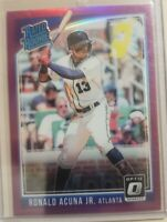 2018 Donruss Optic Prizm Rated Rookie RC  Pink Refractor Ronald Acuna Jr Braves