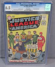 JUSTICE LEAGUE OF AMERICA #8 (Roy Thomas Letter) CGC 6.5 FN+ DC Comics 1962