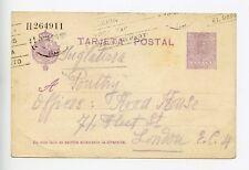 Spain postal stationery postcard used 1929 (Q429)