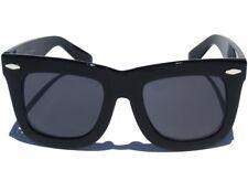 BIG BOLD OVERSIZE CHUNKY POLISHED BLACK FRAME Retro Classic Style Sunglasses New