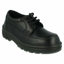 TOTECTORS 1001 MENS SMART BLACK STEEL TOE CAP LEATHER LACE UP WORK SAFETY SHOES