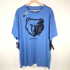 Nike Dri Fit Memphis Grizzlies T-Shirt Blue Men's XXL 2XL